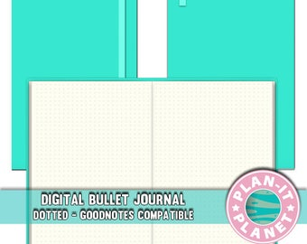 Mint/Teal Dotted Bullet Journal Goodnotes and iPad Compatible [Instant Download]
