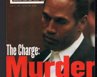 Vintage Magazine - Sports Illustrated : June 27 1994 - O.J. Simpson