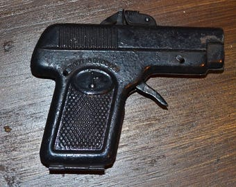 Very rare old Gilling 115 tinplate toy cap gun pistol made in Germany