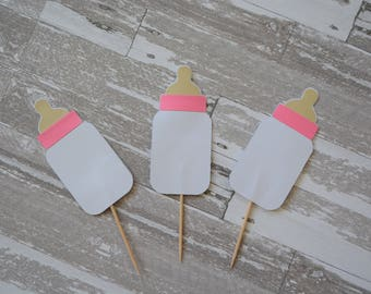 Baby Bottle Cupcake Toppers