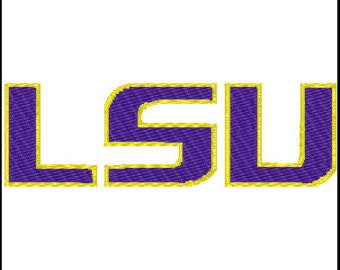 LSU Tigers Logo Embroidery Pattern