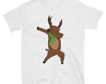 Funny Dabbing Reindeer Christmas Shirt
