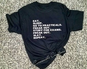 "T-Shirt - ""Grad School Exams"""