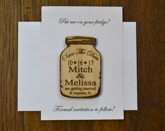 Mason Jar Save the Date Sample only