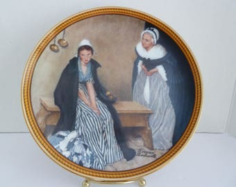 """Collector's Plate, """"Words of Comfort"""", By: Norman Rockwell's Colonial"""