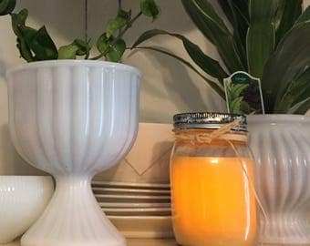 Flameless Pint jar candle.