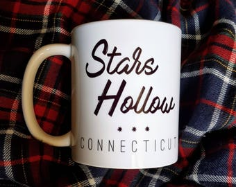 Gilmore Girls Stars Hollow Connecticut Coffee Mug