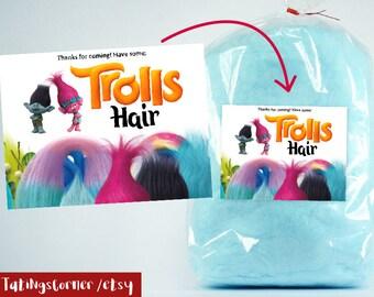 Trolls Cotton Candy Label, Trolls Hair, Trolls Favor labels, Birthday Favors, Trolls label, Trolls decoration, Trolls, trolls cotton candy