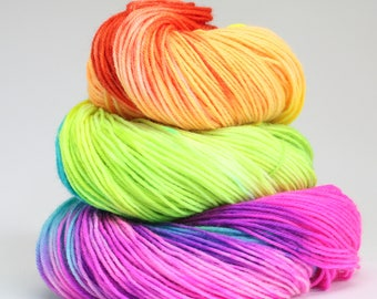 Sock superwash merino/nylon; In The Name Of Love 100g, hand dyed yarn