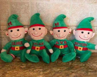 Personalized elf, personalized elves, name on elf, personalized plush elf, name elf, name elves, name stuffed animal elf, personalized toy,