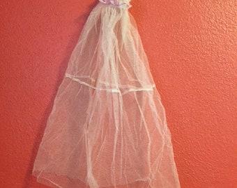 Big doll bridal veil