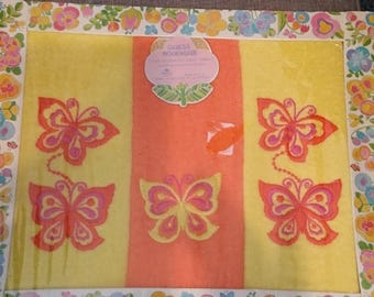 ON SALE Guest Boutique Three Decorative Guest Towels (hand towels) Butterfly Embroidered. New in Box