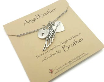Angel Brother, Loss of Brother, Memorial Necklace, Memorial Gift, Remembrance Jewelry, Sympathy Jewelry, Memorial Jewelry, Sympathy Gift