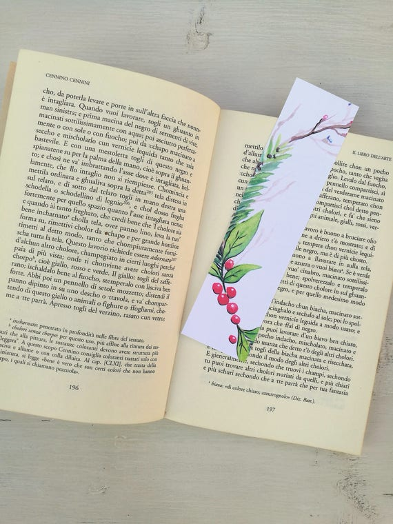 Bookmark Watercolor, handmade, paper bookmarks, custom bookmarks, wedding Favors-#2