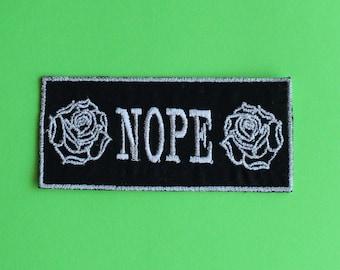 NOPE Rose Patch