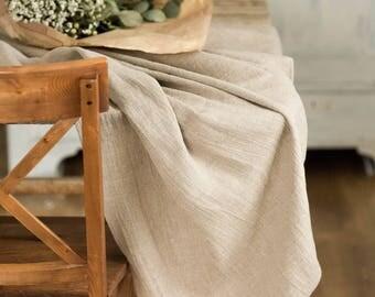 Wedding tablecloth, Natural rough linen table cloth, Gray burlap tablecloth, Rustic table cloth, Table cloth rectangle, Farmhouse tablecloth