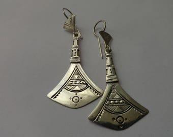 African Tuareg origin Silver earrings
