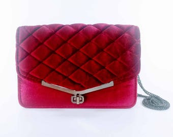 Merlot Pillowed Statement Clutch