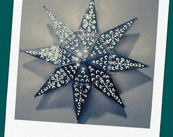 "Mexican Tin Star Lantern//Tin Star Light//Wall Star//Celing Star//Mexican Folk Art//17"""