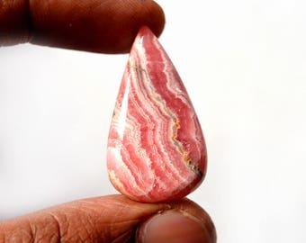 Natural Rhodochrosite 39 Cts Gemstone Loose Cabochon Pink Rhodochrosite Pear Shape 34x19x6 MM R13436
