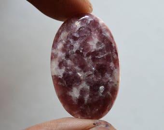 Lepidolite Gemstone Cabochon 26.5 Cts Natural Designer Lepidolite Oval Shape 32x20x5 MM R14328