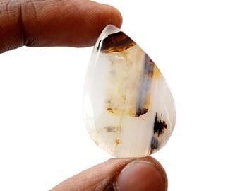 Montana Agate 35.5 Ct Pear Shape beautiful Natural Gemstone Cabochon 36x24x5 MM R14563