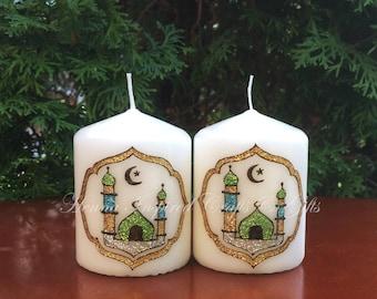 Set of 6 or 8 Ramadan Candles, Ramadan Decor, Ramadan Mubarak, Eid Party, Eid Gift, Eid Decor, Eid Festival, Islamic home decor, Eid mubarak