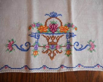Cross Stitched - Embroidery Tea Towel
