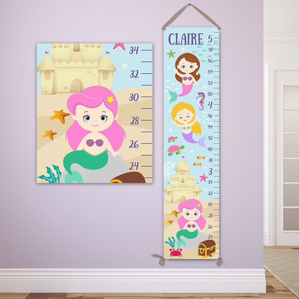 Mermaid growth chart personalized canvas growth chart perfect for mermaid growth chart personalized canvas growth chart perfect for mermaid nursery gc4335p nvjuhfo Gallery