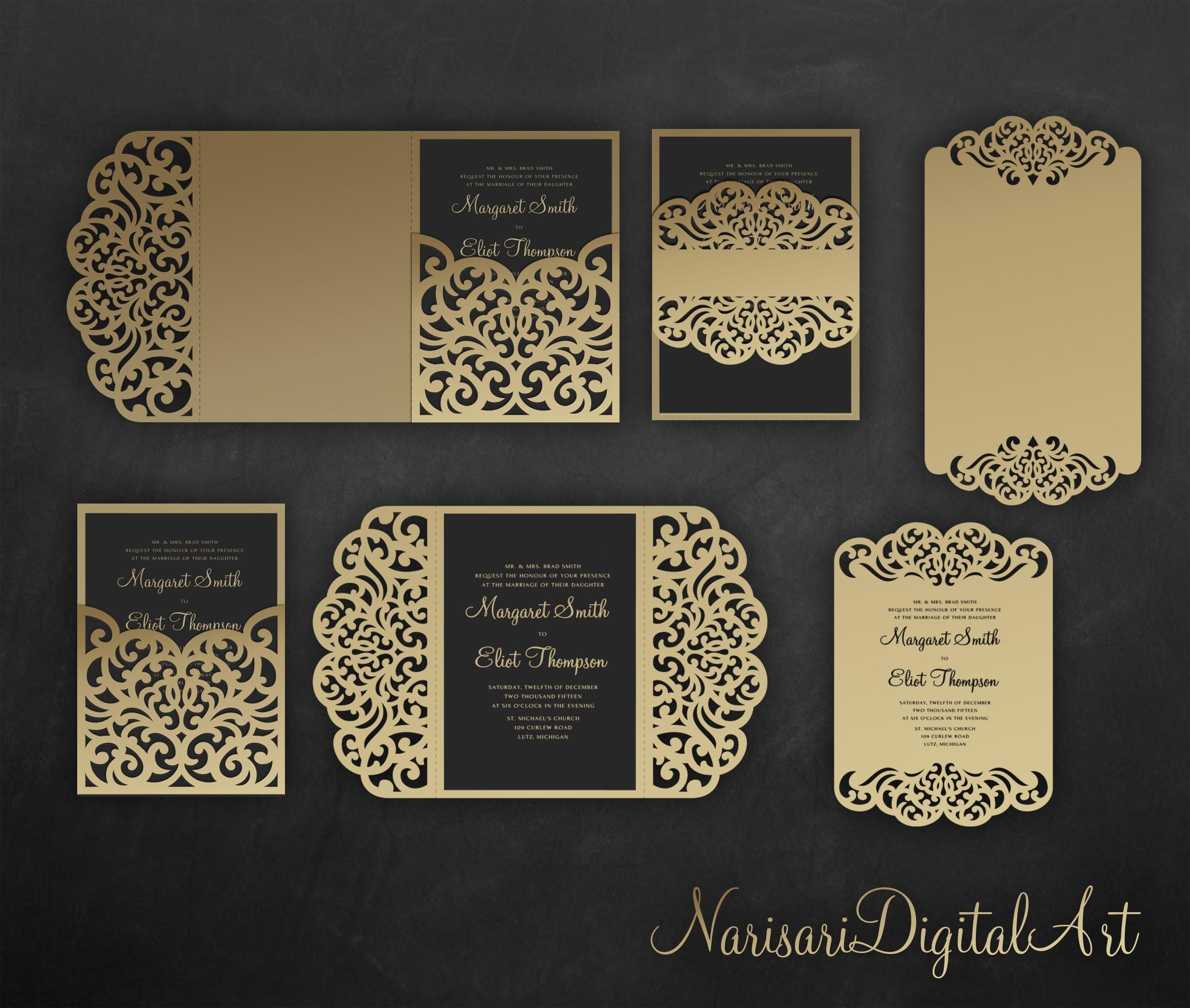 tri fold invitations template