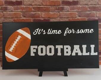 Fathers Day Gifts - Football Wall Art - Football Gift - Football Fan Gift - Football Painting - Football Coach Gift - Football Decor