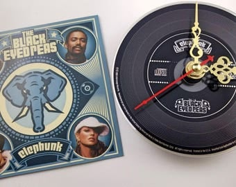 CD Clock The Black Eyed Peas Elephunk Handmade Clock FREE U.S. SHIPPING Unique Birthday Present Gift