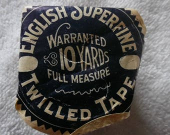 Vintage English SuperfineTwilled Tape