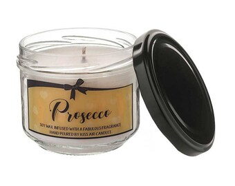 Prosecco candle, prosecco gift, Valentines gift, champagne candle, cocktail gift, prosecco, bubbly, soy wax candle, scented candle, candles
