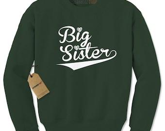 Big Sister Sibling Adult Crewneck Sweatshirt