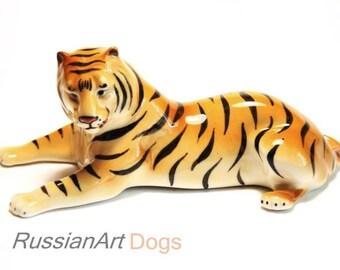 Tiger porcelain figurine,  statue