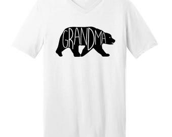 Grandma Bear  - Men's V-neck