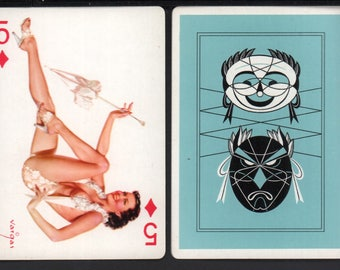Alberto Vargas 1950's Vargas Girl Playing Card Swap Card 5 OF DIAMONDS Near Mint / Mint