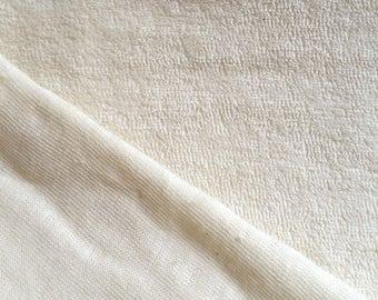 JERSEY EPONGE COTON 100% Coton Ecru