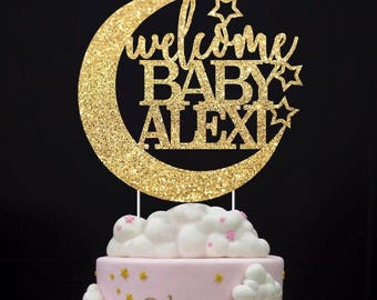 Any Name Cake Topper, Twinkle twinkle little star, custom cake topper, little star, first birthday