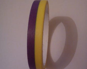 1 paper Masking tape purple yellow