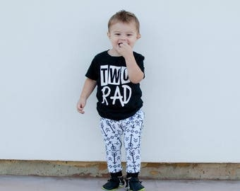 TWO RAD - 2nd Birthday - Unsiex Birthday Shirts - Birthday Shirts - I'm Two Cool - Trendy - Hipster - Second Birthday - I'm Two - Toddler