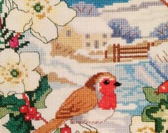 Winter Robin Cross Stitch