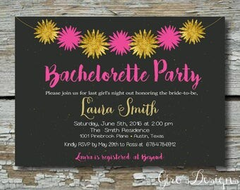 Bachelorette party invitation template | Etsy