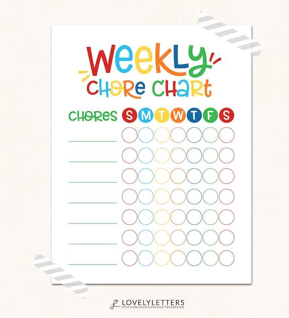 daily chores chart