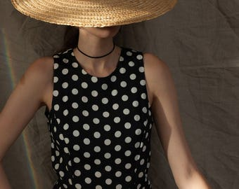 Polka Dot Tea Length Dress