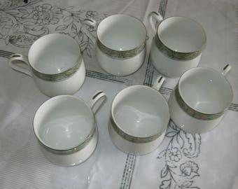 Sango Persian Garden 6 Coffee / Tea 3 1/8 in Cups