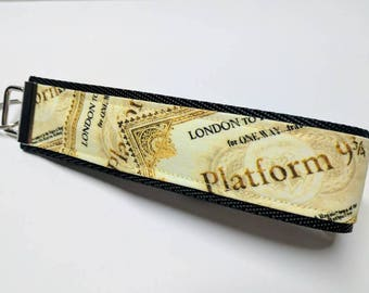 Harry Potter themed Platform 9 3/4 key fob