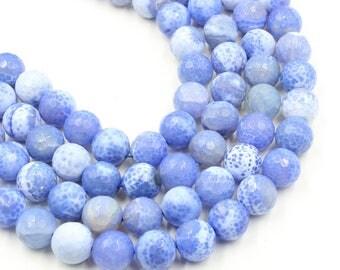 Light purple agate - 16 mm round beads - full strand - 20 beads - 15 inch