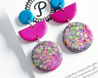 Dingle Dangle Clay Stud Earrings